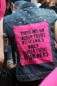 There are no queer teens suicides only queer teens murders